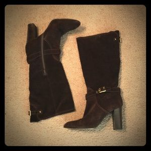 ♠️ Authentic COACH Chocolate Suede Boots♠️
